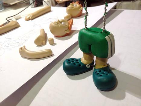 Pernas mascote Polymer clay