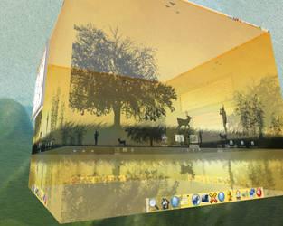 Reflection in a cube by Nitrolinken