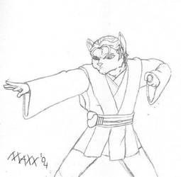 Maxx Jedi Knight Sketch by SpoiledKittyGT