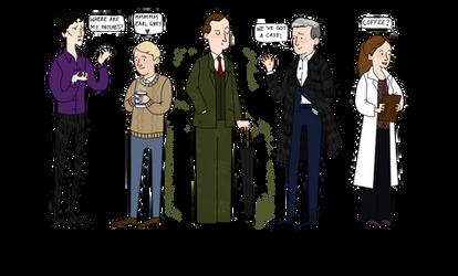 Sherlock line up by dancinghamtoro