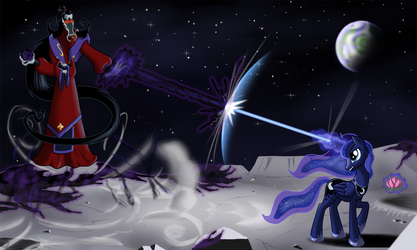 Moon fight by Sirzi