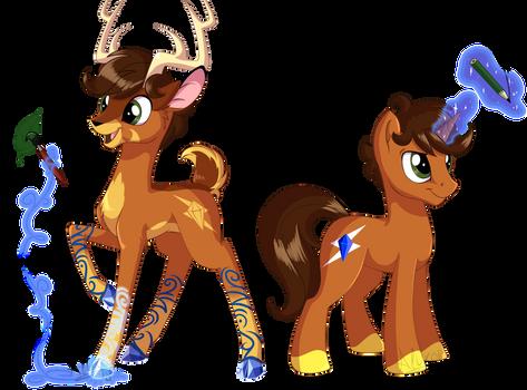Aluxor: deer and pony