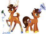 Aluxor: deer and pony
