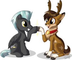 Blitzen and Thunderlane by Sirzi