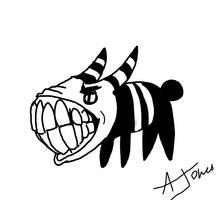 Inktober - Teeth by LaughingSkeleton