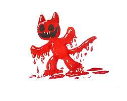 Inktober - Blood by LaughingSkeleton