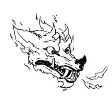 Inktober: Snarl by LaughingSkeleton