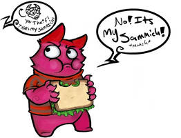 My Sammich by LaughingSkeleton