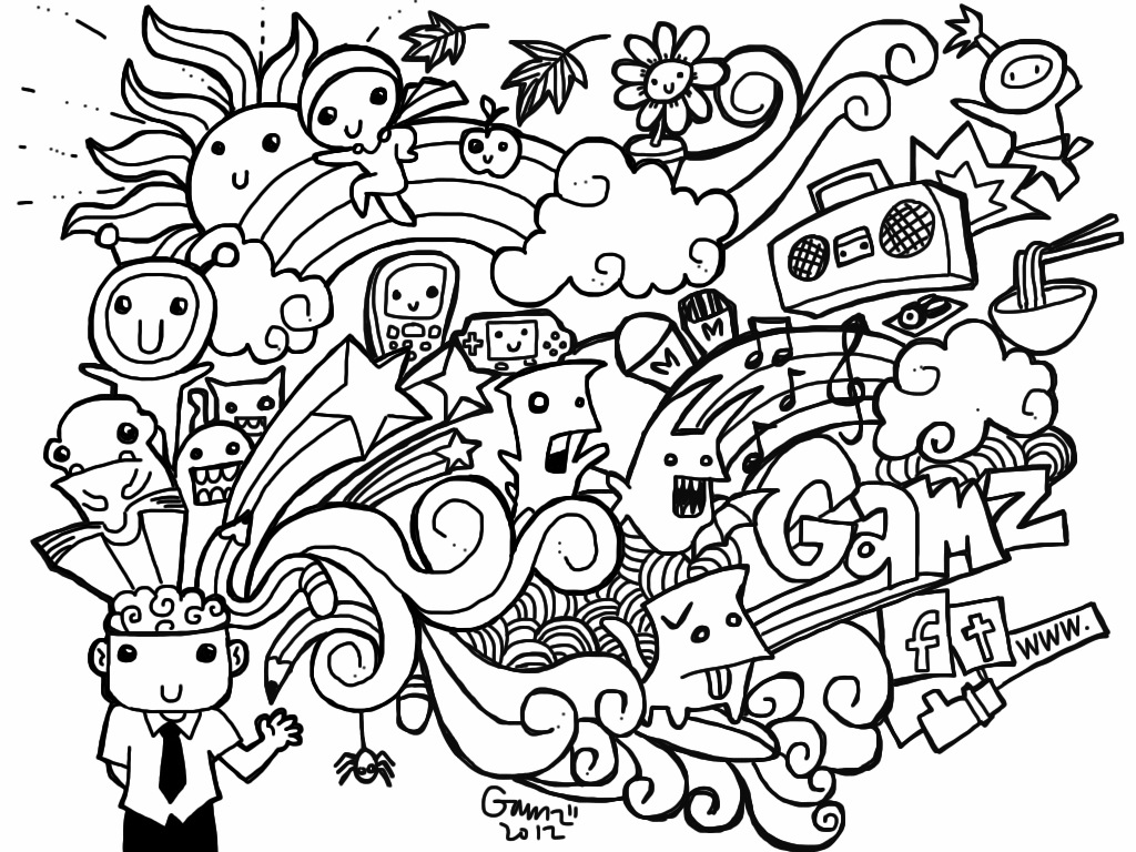 Weed Stoner Drawings Coloring Pages
