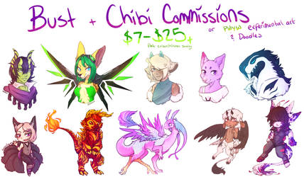Art Commissions [CLOSED] by kanarichan
