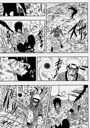 Naruto vs Sasuke manga panel