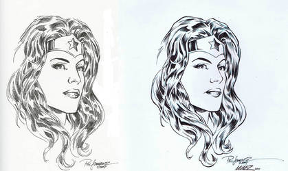 Wonder Woman Inks by AlonsoNunez