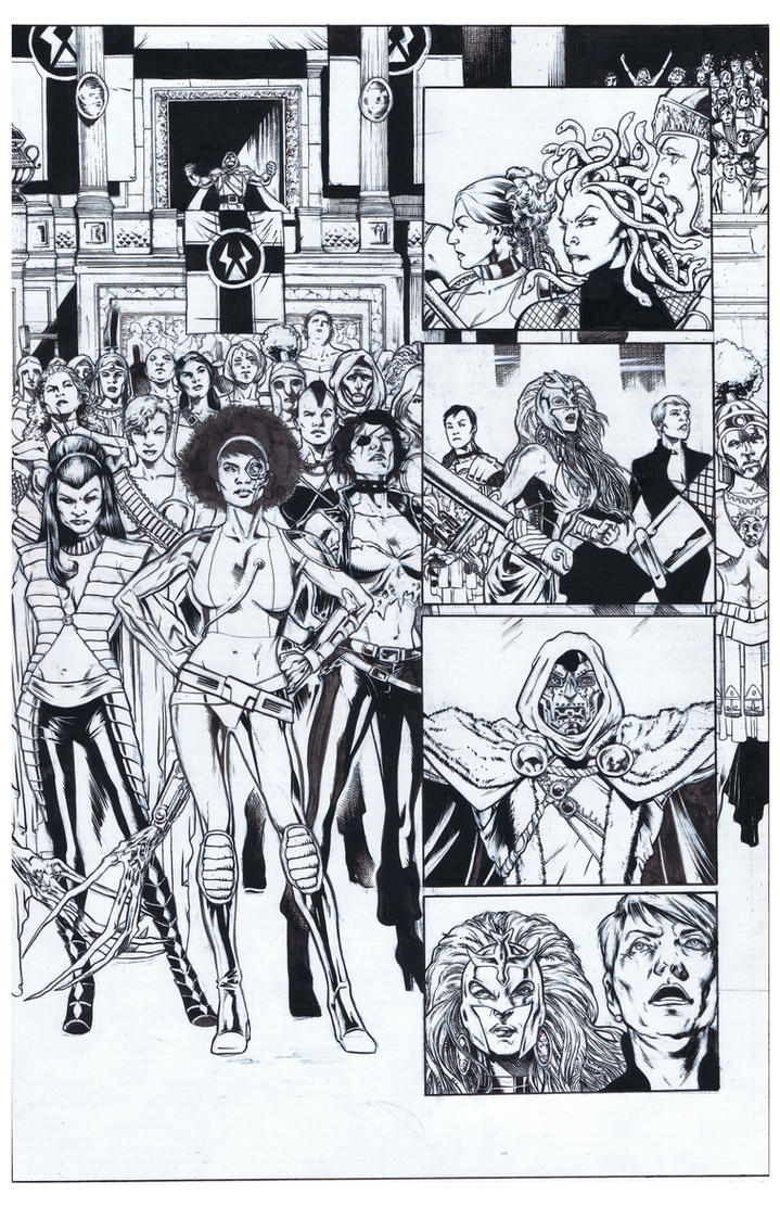 Fearless Defenders Inks by AlonsoNunez