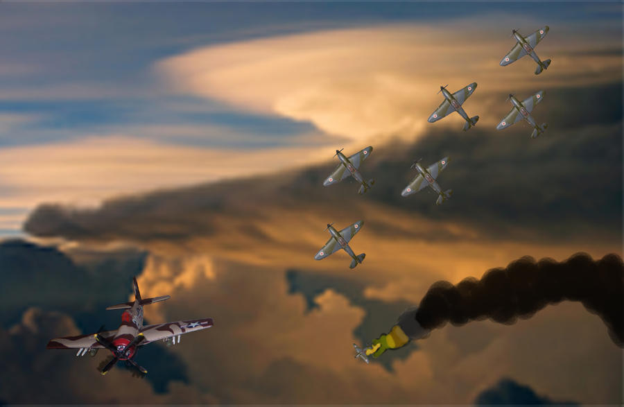 F8F Bearcat vs YAK-9 fighters by Rafe15