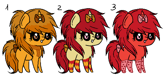 Fall Pony Adoptables! [CLOSED] by RhuenKun