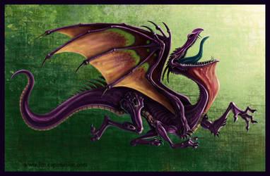 pelecan dragon by smashy-bone