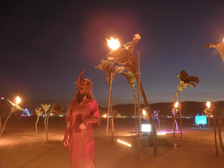 scary mask at burning man by smashy-bone