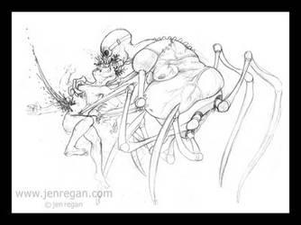 Death by Spider Lady by smashy-bone