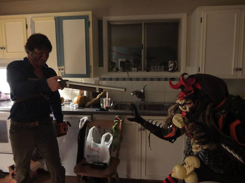 Monster vs Ash by smashy-bone