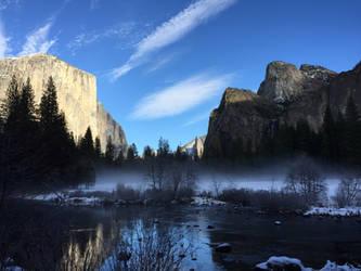 Mist on Briedelvale Meadow by Yosemite-Stories