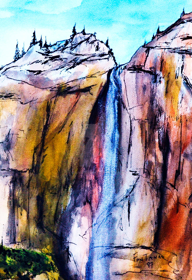 Yosemite Falls Autumn Colors by Yosemite-Stories