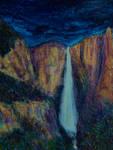 Yosemite Falls Moonlight Iridesence
