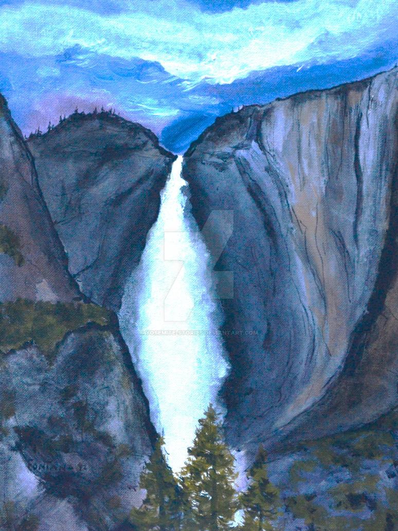 Yosemite Falls Power by Yosemite-Stories