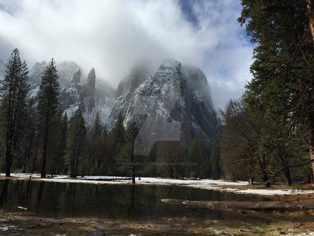 Sky and the Cathedral Rocks by Yosemite-Stories