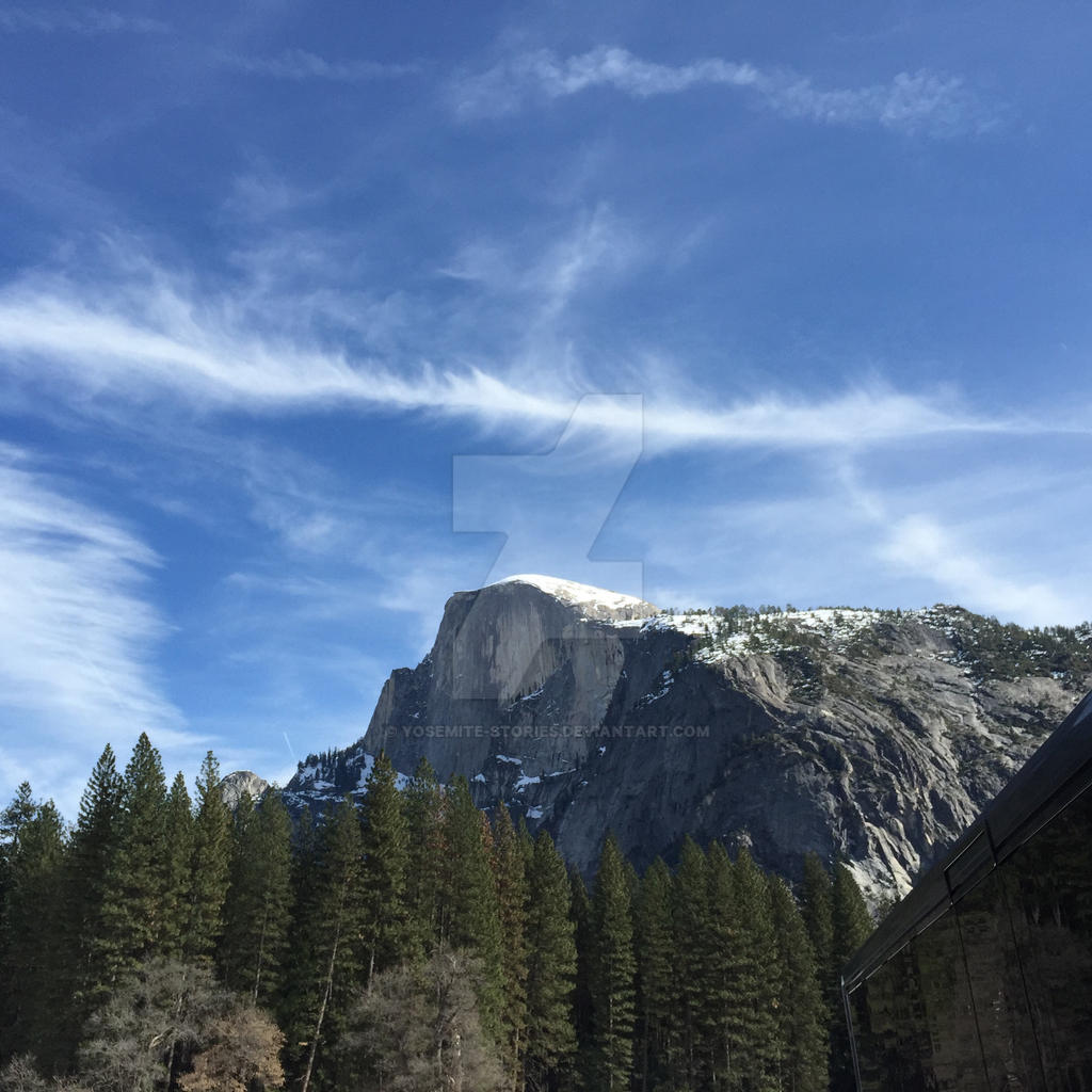 Unity of Sky and Half Dome (Yosemite) by Yosemite-Stories
