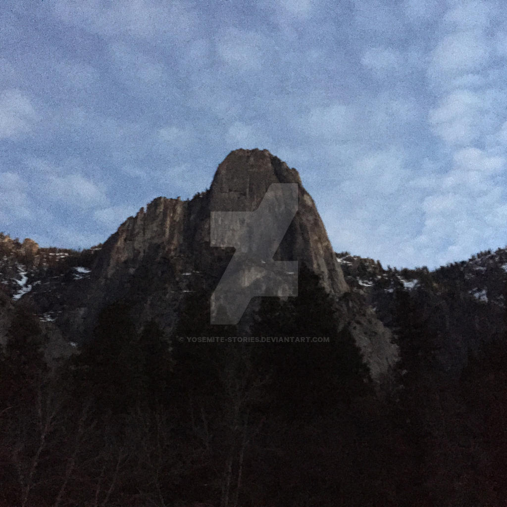 Sentinel Rock with a Pop Corn Sky by Yosemite-Stories
