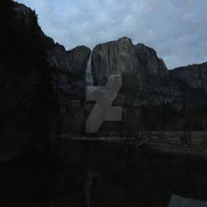 Yosemite Falls in the Pop Corn Sky