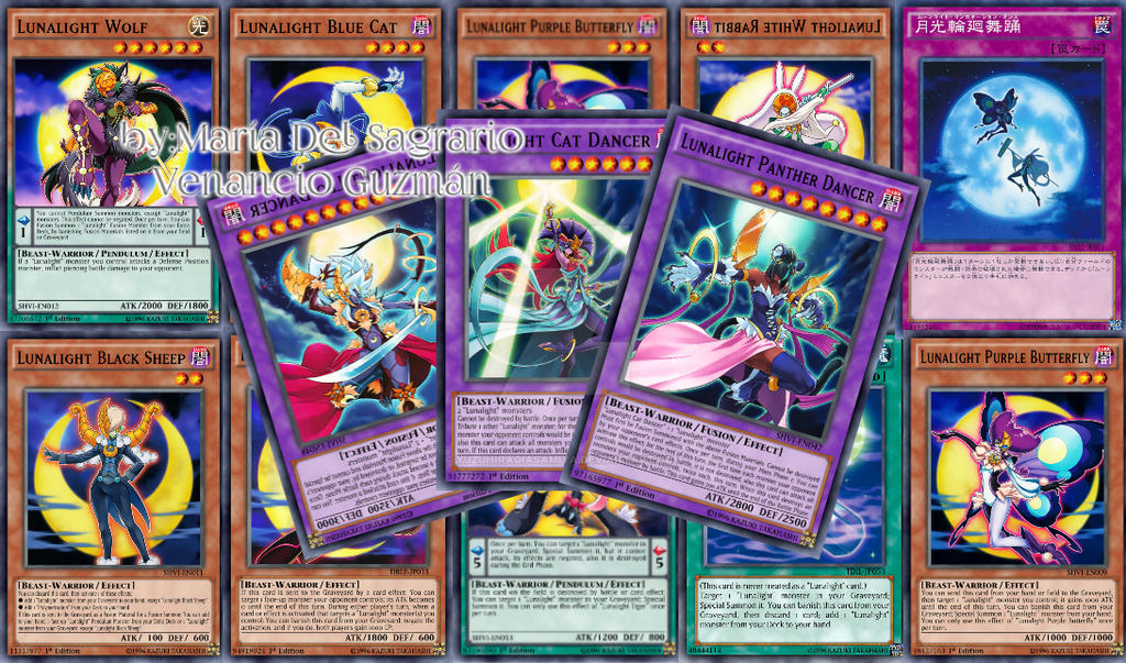 Lunalight deck yu gi oh arc v by yuzuhiragiasamiya on for Deck arc x arene 7