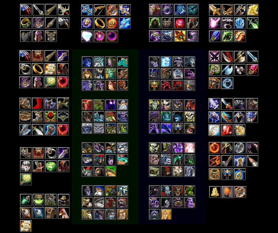 dota allstars hero and items by bungot on deviantart