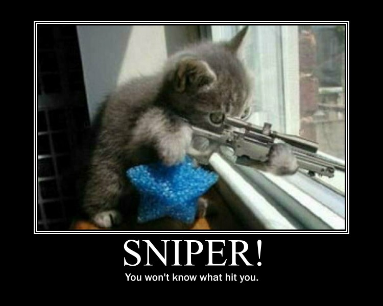 Sniper demotivational poster by Stickbomber
