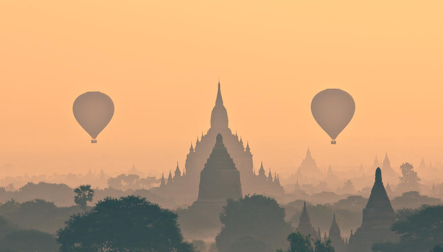 Balloons Over Bagan by PyeAyeNyein