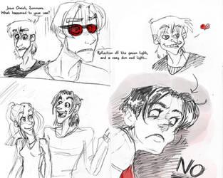 WWaR Evo sketches by SketchytheScribbler