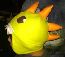 dinosaur fleece hat by tawnie8376