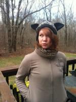 leopard fleece hat by tawnie8376