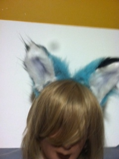 Two toned fox ears by tawnie8376