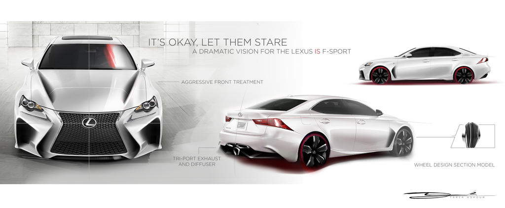 Lexus IS F-Sport Design by tashour11