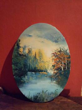 Oval Autumn Lake
