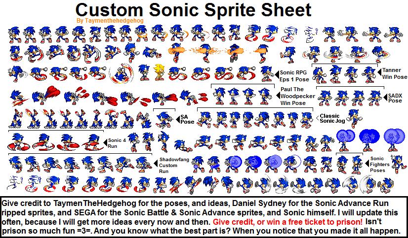 sonic 1 sprite sheet