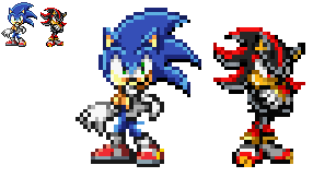 Sonic And Shadow Sonic X Sprites by Taymenthehedgehog