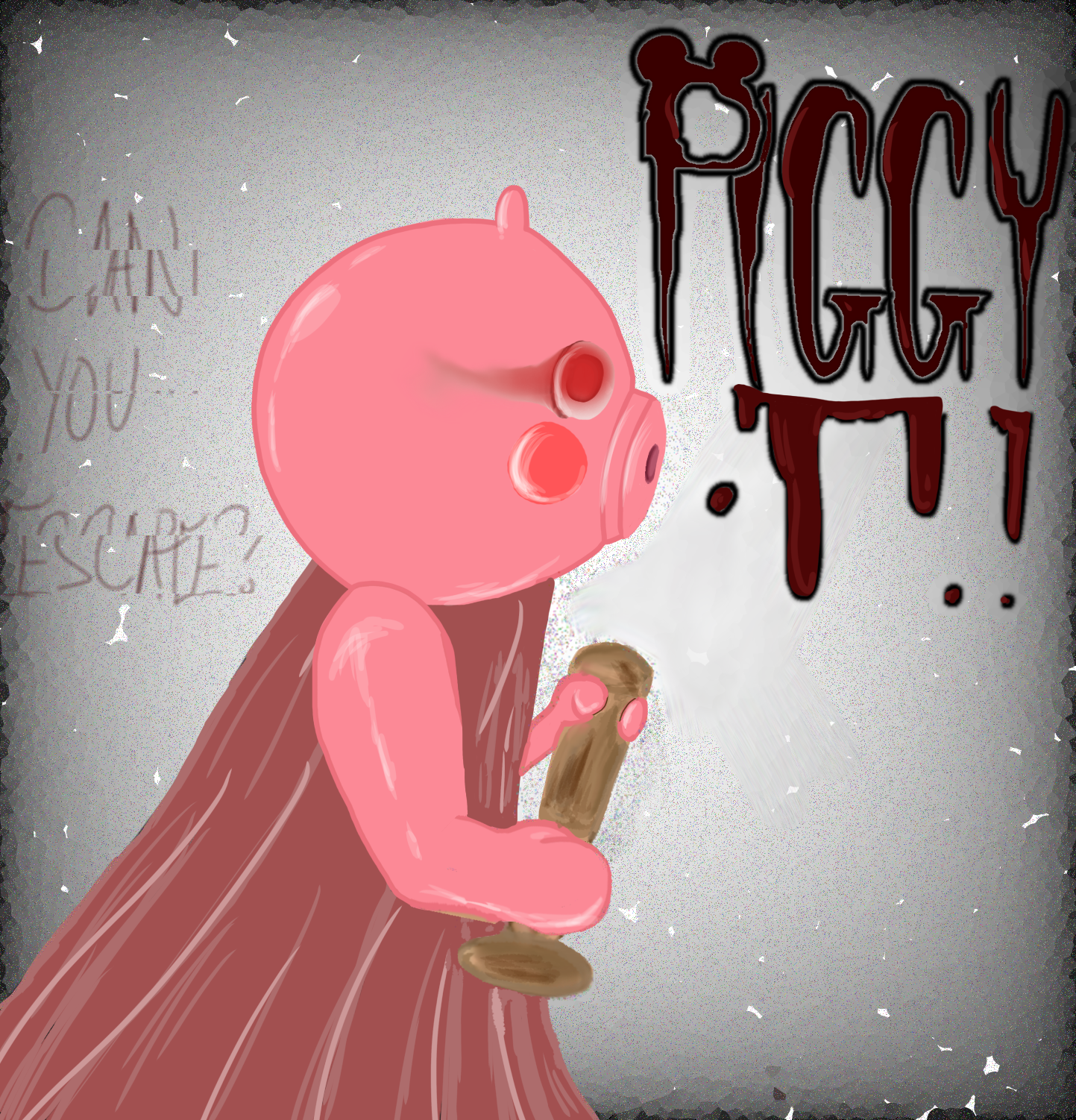 Roblox Font Deviantart Roblox Piggy Comic Cover By Pastelaesthxtiq On Deviantart