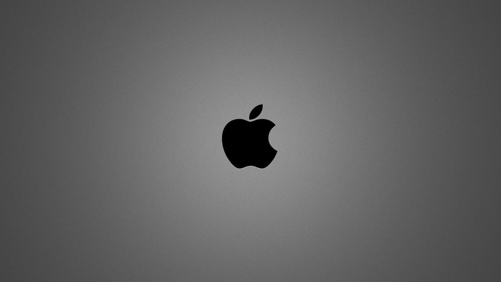 Brushed Metal Apple Wallpaper by flamingdeth