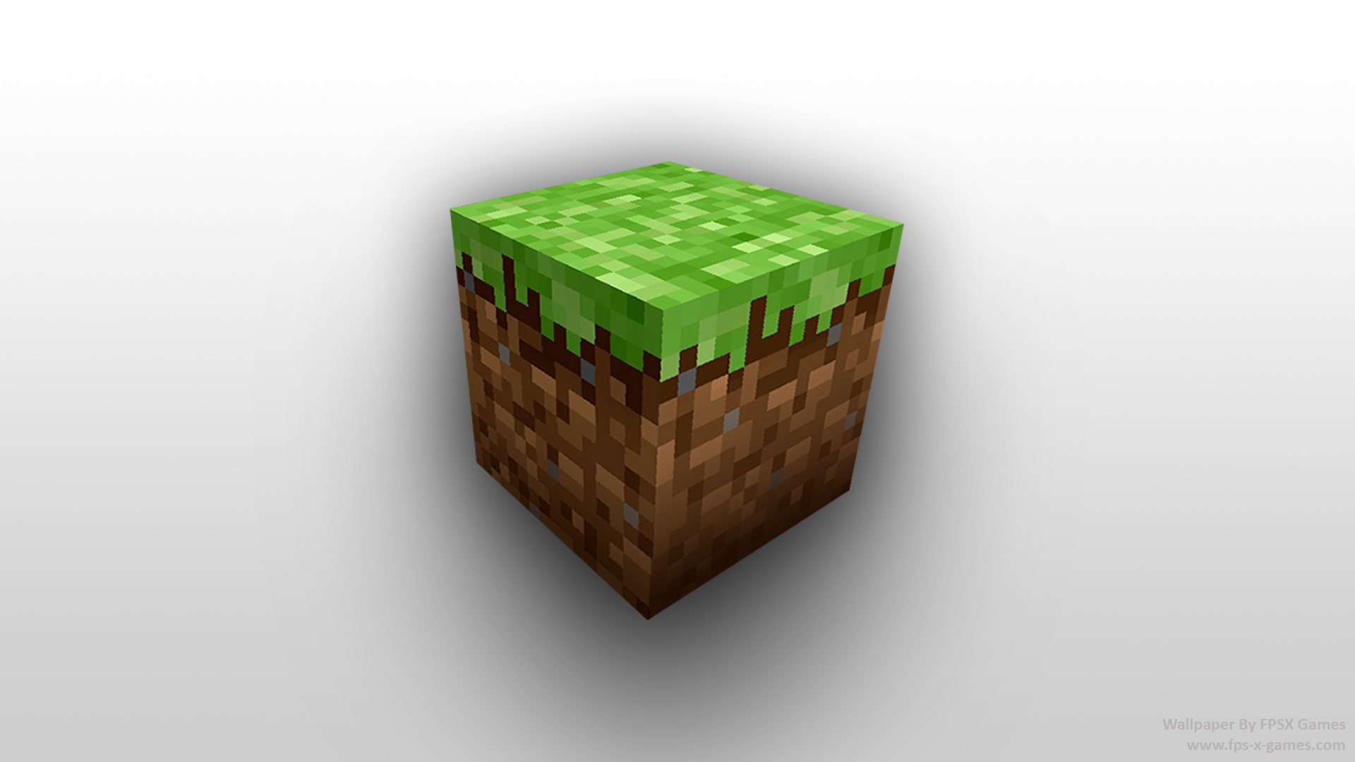 Minecraft dirt block, desktop wallpaper by fpsxgames