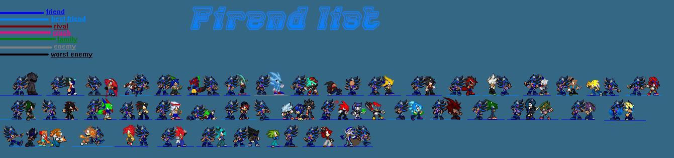 My Friend List( W.I.P) by Xx-ApocalypseHeartxX