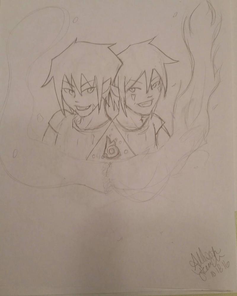Raiu and Kinta by FireRedBurn
