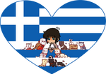 Greece with Nation Cats Shimeji Heart