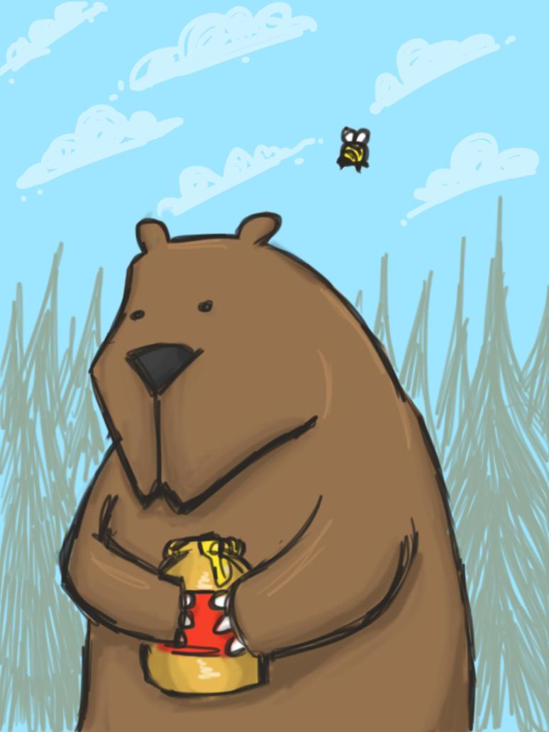 Bear and Bumblebee by Phewcumber